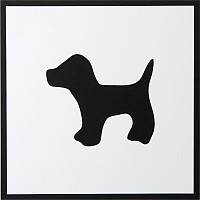 AP345LS, Cute Dog, Large Square Aperture Panels