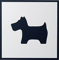 AP347LS, Cute Scottie, Large Square Aperture Panels