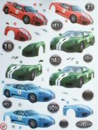 DS427 Fast Cars, A4 Decoupage sheet