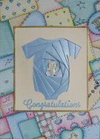 IF1531, Blue Baby Boy,Congratulations,Iris Folding Kit (127mm x 178mm)