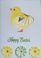 IF1541,Easter Chick, Happy Easter, Iris Folding Card Kit (104mm x 148mm)