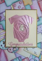 IF1546, Pink Baby Girl ,Congratulations ,Iris Folding Kit (127mm x 178mm)