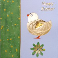 IF1548, Easter Chick ,Happy Easter ,Square Iris Folding Kit (144mm x 144mm)