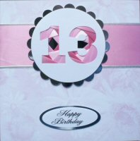 IF1579, Brown Ribbon Strip,Brown Number, Iris Folding Card Kit