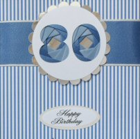 IF1580, Blue Ribbon Strip,Blue Number, Iris Folding Card Kit