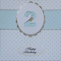 IF1581, Pale Blue Ribbon Strip,Pale Blue Number, Iris Folding Card Kit