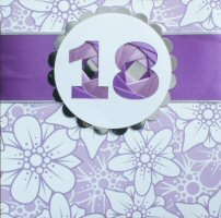 IF1586, Purple Ribbon Strip,Purple 																																																																																																																																																																																																																																																																																																																																																																																																												Number, Iris Folding Card Kit