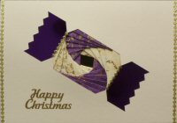 IF1659 Christmas CrackerPurple & Cream ,Happy Christmas,Iris Folding Card Kit (104mm x 148mm)