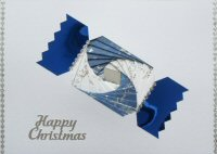 IF1667 Christmas Cracker,Blue & White ,Happy Christmas,Iris Folding Card Kit (104mm x 148mm)