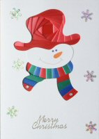 IF1669, Smiley,Red, Green & Blue,Merry Christmas, Iris Folding Card Kit