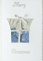 IF1670, Modern Parcel,Grey & Blue,Merry Christmas, Iris Folding Card Kit