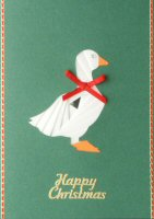 IF1673, Goose on Forest Green,Happy Christmas, Iris Folding Card Kit