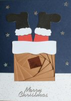 IF1676, Santa in Chimney, Merry Christmas, Iris Folding Card Kit