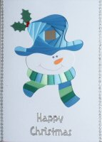 IF1678, Smiley,Blue & Green, Happy Christmas, Iris Folding Card Kit