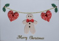 IF1683, Gingerbread Garland,Merry Christmas, Iris Folding Card Kit