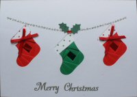 IF1684, Xmas Stocking Garland,Merry Christmas, Iris Folding Card Kit