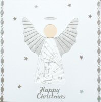 IF1688 Angel,Silver & White,Happy Christmas, Iris Folding Card Kit