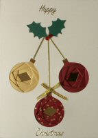 IF1690, Triple Bauble,Happy Christmas, Iris Folding Card Kit
