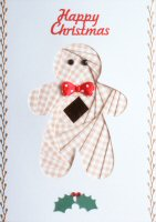 IF1692, Gingerbread Man,Happy Christmas, Iris Folding Card Kit