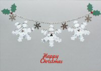 IF1693, Snowflake Garland,Happy Christmas, Iris Folding Card Kit