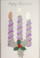 IF1719,Modern Christmas Tree,On Cream Card,Happy Christmas,Square Iris Folding Card Kit