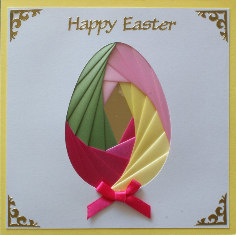 IF1762, Easter Chick ,Happy Easter ,Square Iris Folding Kit (144mm x 144mm)