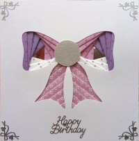 IF1724, Hearts Multi Aperture,White on White Card,Congratulations, Iris Folding Card Kit