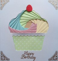 IF1787, Train,Green & Blue,Happy Birthday,Iris Folding Card Kit (104mm x 148mm)
