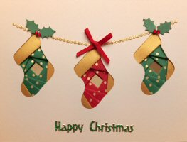 IF1717, Oval Frame, Plain & Glitter,Gold, Red, Green,Merry Christmas, Iris Folding Card Kit