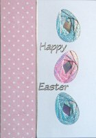 IF348A, Triple Easter Eggs ,Happy Easter ,Iris Folding Kit (104mm x 148mm)