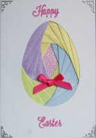 IF55A, Large Easter Egg,Happy Easter,Iris Folding Kit (104mm x 148mm)