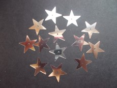 Silver Star Sequins - pk 50