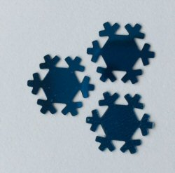 Blue Snowflake Sequins - pk 50