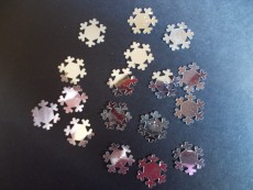 Silver Snowflake Sequins - pk 50
