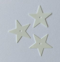 White Star Sequins - pk 50