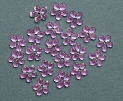ME771, Lilac 10mm, Flower Sparkle Gems, Pack of 20