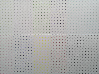 pa443, Polka Dot Sqr Paper Pack, 11 Different Colour Sheets (152mm x 152mm 120gsm Paper)