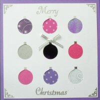 PAT314, Multi Baubles,Merry Christmas, Iris Folding Card Kit