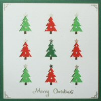PAT315 Multi Trees,Merry Christmas, Iris Folding Card Kit