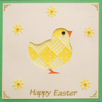 IF1758, Easter Chick ,Happy Easter ,Square Iris Folding Kit (144mm x 144mm)