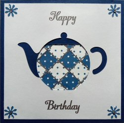 IF1937, Train,Green & Blue,Happy Birthday,Iris Folding Card Kit (104mm x 148mm)